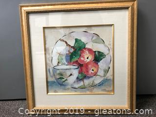 Vtg. Water Color Signed Wall Art