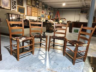 Ladder back Chairs Set of 4