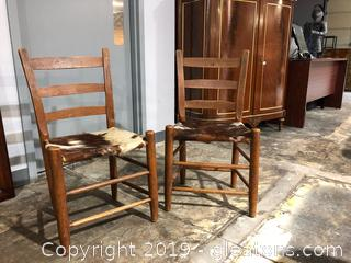 Ladder Back Chairs lot of 2
