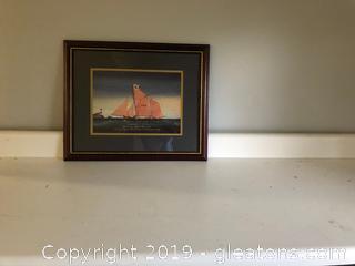 Framed print of The Brixham Trawler Fulmer TE 21