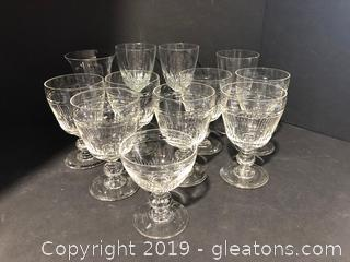 Lot of Princess Cut and Waterford Crystal Wine Glasses