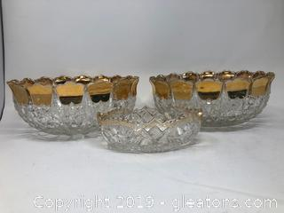 Unique Set of Bowls and Candy Dish