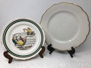 "Antique ""Faust"" Plate and Syracuse China"