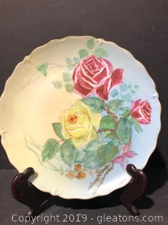 Antique Hand Painted Plate By Little