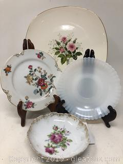 Mixed Porcelain China and Glass Lot