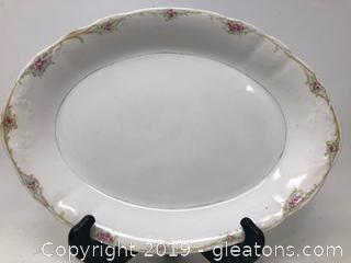 WEPCO Hand Painted Porcelain Platter