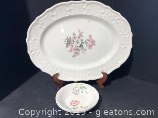 Small Bowls and Platter By Washington Colonial
