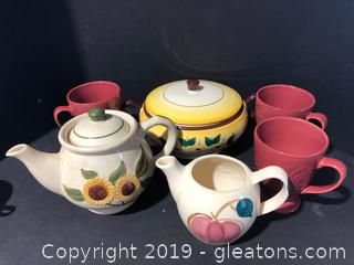 Mixed China and One Hand Painted Browneyd  Susan