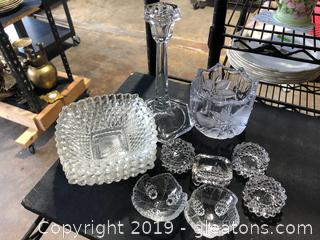 Diamond Hobnail and Waterford Mixed Lot
