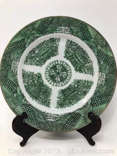 Vintage Stunning Green and White Made in China