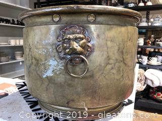 Very Large Brass and Tin Pot