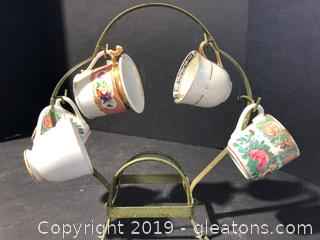 Mini Porcelain Tea cup Carousel Holder