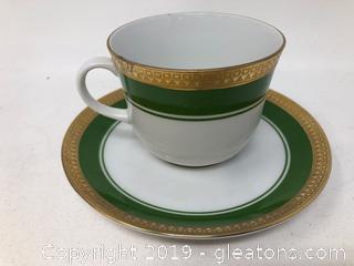 Wansitdel Bavarian Tea Cup and Saucer