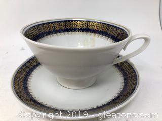 CP Lettin Numbered 12 Tea Cup and Saucer
