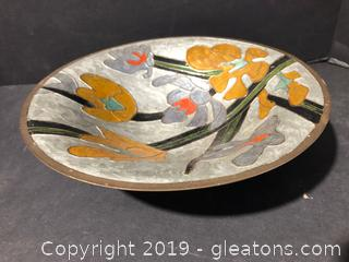 Solid Brass Hand Painted Bowl