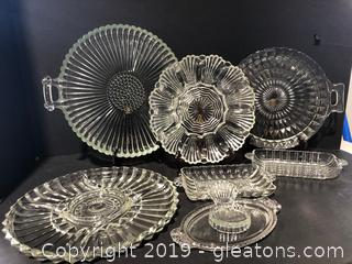 Large Crystal and Glass Lot