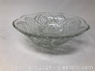 Elegant Vintage Diamond Cut Bowl