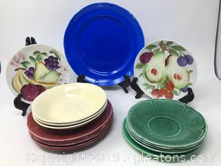 Lot of Vintage Plates and Saucers