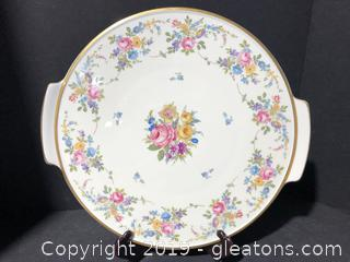 A Beautiful Stamped and Numbered Thomas Ivory Cake Plate