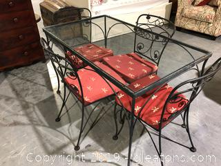 Wrought Iron Table With 4 Chairs