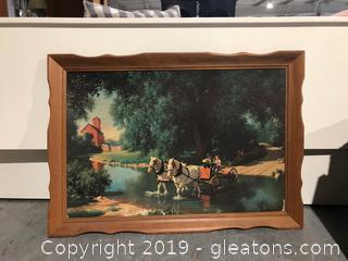 Large Vintage Rural Life Framed Print