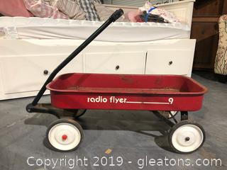 Vintage Red Radio Flyer