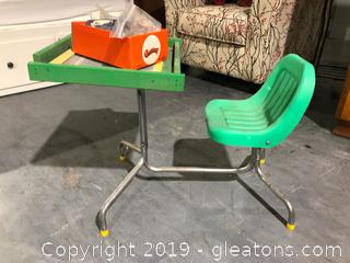 Retro Green Child's Desk