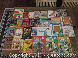 Lot of 28 Children Books most of them Soft Cover 8 are Hard Cover