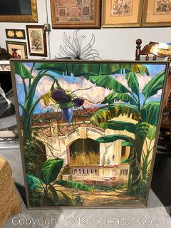Original Large Signed Art Tropical Values at $2,000