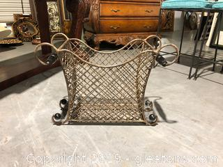 Bronze Metal Basket