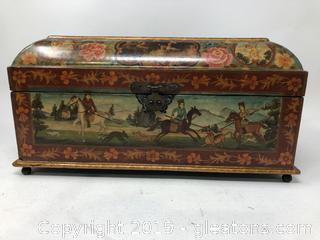 Vintage Old World Jewelry Box