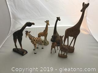 "Giraffe Family,  5"" to 13"""