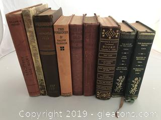 Nine Vintage Books