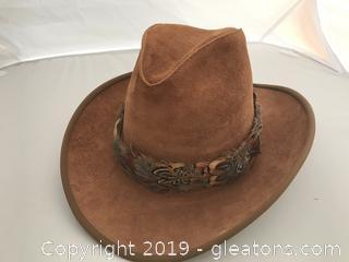 Nice Leather Herschel Western Hat, size Medium