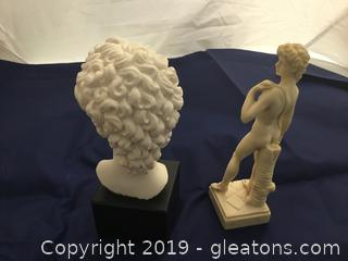 King David Statue/Bust; Made in Italy