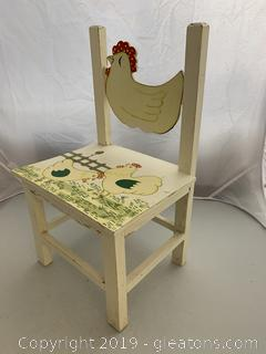 Farmhouse Chicken-motif Chair