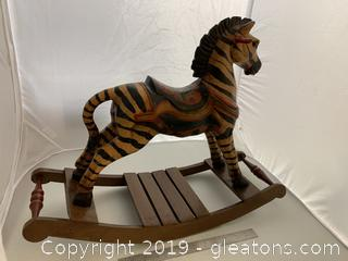 Colorful Rocking Zebra