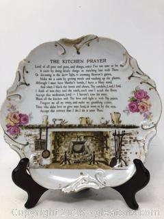 Beautiful Kitchen Prayer Plate