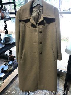 Vintage Warren of Stafford Wool Trench Coat