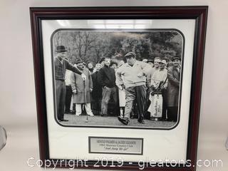An Original 1961 framed  Arnold Palmer and Jackie Gleason Print