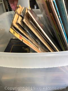 Vintage tub Lot of Vinyl Records