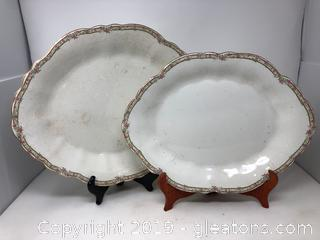 Beautiful Large Antique Platters
