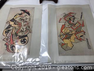 Pair of Japanese Wood Block Prints From Metropolitan Museum of Art