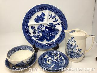 Lot of Blue and White China Ware
