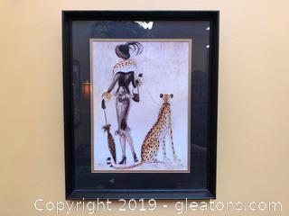 Femme Cheetah Art