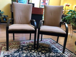 Pair Accent Chairs A