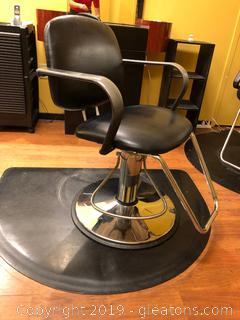 Salon Chair D and Mat