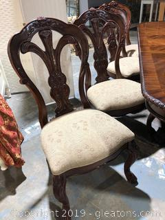 Four Heavily Carved Bernhardt Chairs - Grand Savannah Collection