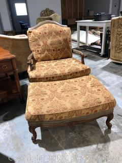 WLII Collection High End Accent Chair and Ottoman