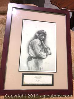 "(A) Allen Friedlands Print of Legendary ""Joe Jackson"" of Chicago White Sox"